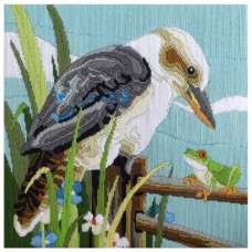 Country Threads Long Stitch Kit - KOOKABURRA WITH FROG 30X30CM